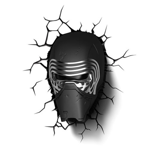 Star Wars: The Force Awakens Kylo Ren Helmet 3D Light