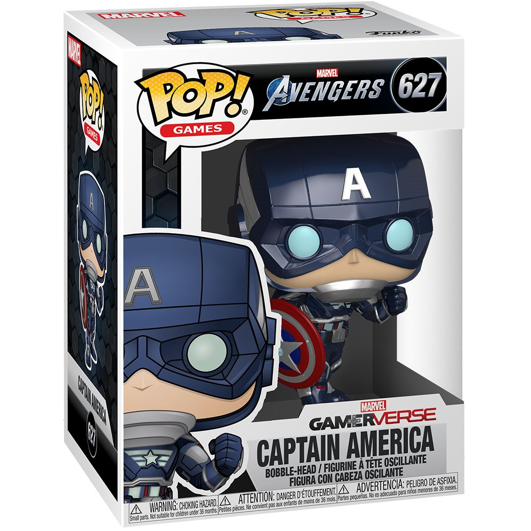 Captain America Stark Tech Suit Funko Pop Marvel: Avengers Game Vinyl Figure