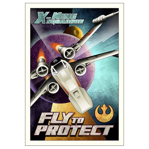 Star Wars Fly to Protect by Mike Kungl Small Canvas Giclee Art Print