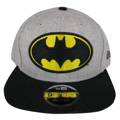 06d145f8b4c Batman Logo Heather Action Snapback Hat - Entertainment Earth