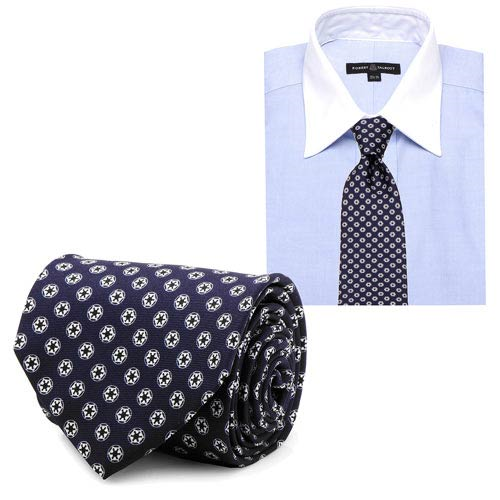 Star Wars Imperial Symbol Pattern Navy Italian Silk Tie