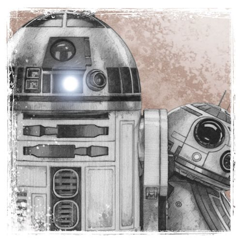 Star Wars: The Last Jedi R2-D2 with BB-8 Canvas Print
