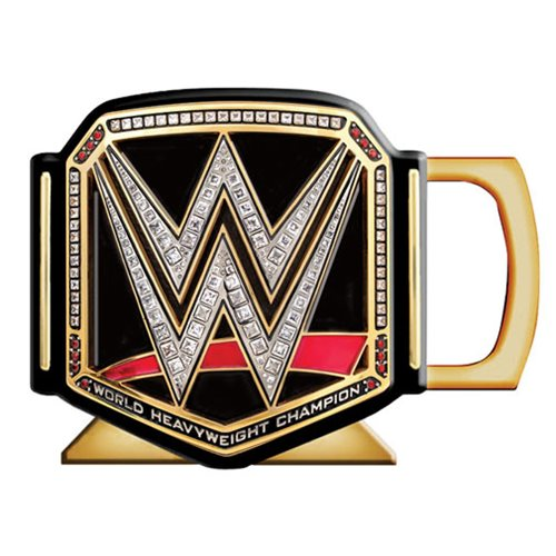 WWE Title Belt Ceramic 3D Sculpted Mug