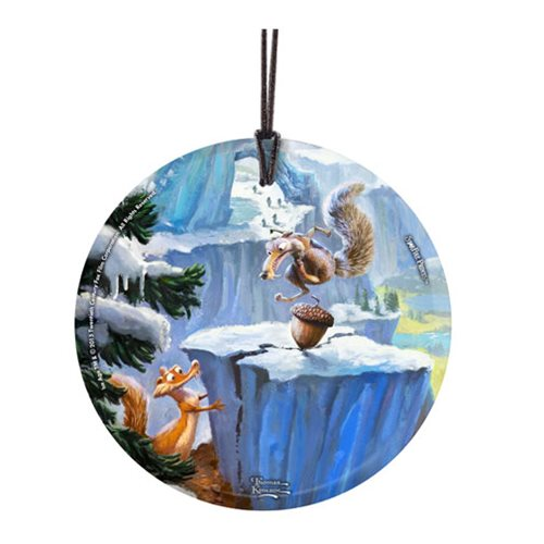 Ice Age Scrat Thomas Kinkade StarFire Prints Hanging Glass Ornament
