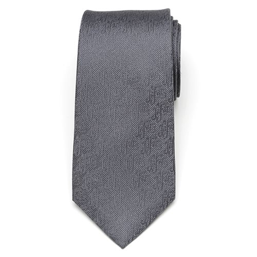Aladdin Jafar Writing Motif Gray Men's Tie