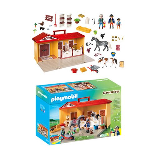 Playmobil 5671 Take Along Horse Stable Playset