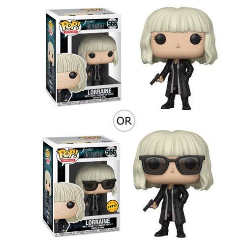 Atomic Blonde Lorraine with Gun Pop! Vinyl Figure, Not Mint