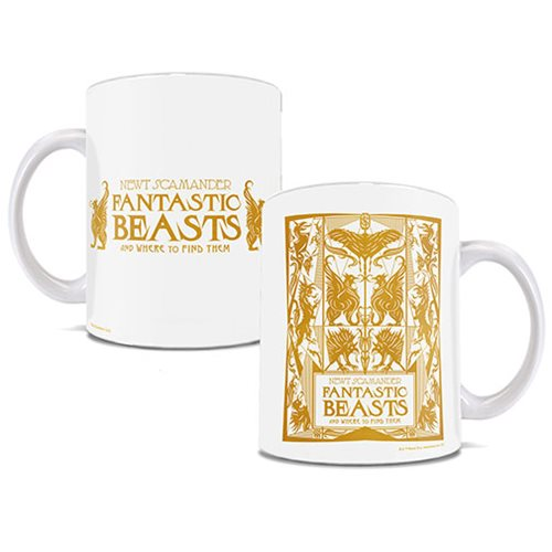 Fantastic Beasts: The Crimes of Grindelwald Fantasic Book 11 oz. White Ceramic Mug