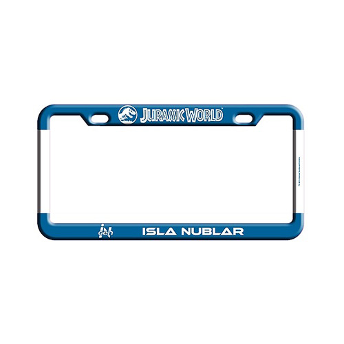 Jurassic World Isla Nublar License Plate Frame - Entertainment Earth