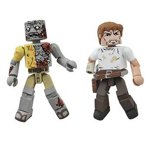 Walking Dead Rick and Zombie SDCC 2012 Minimates 2-Pack