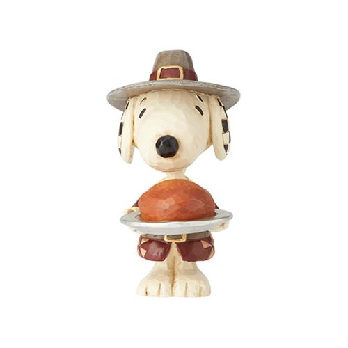 Peanuts Snoopy Pilgrim by Jim Shore Mini-Statue, Not Mint