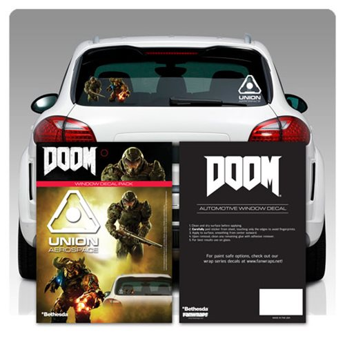 Doom Window Decals 3-Pack