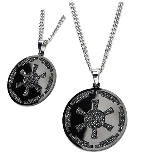 Star Wars Imperial Symbol Gun Metal Pendant Necklace