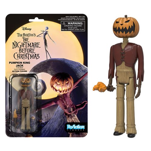 The Nightmare Before Christmas Pumpkin King Jack ReAction 3 3/4-Inch Retro Action Figure