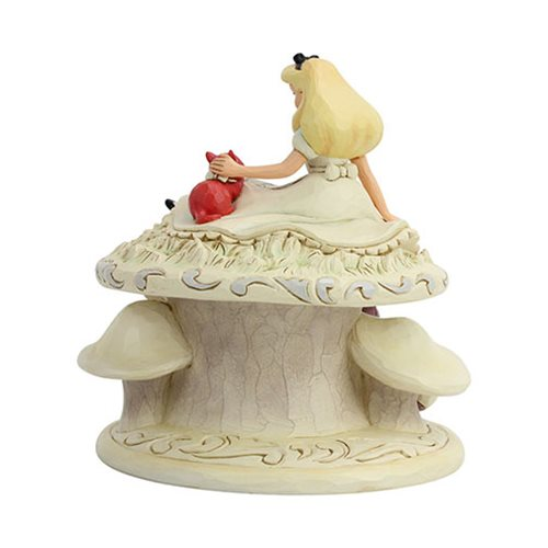 Disney Traditions Alice in Wonderland White Woodland Whimsy and Wonder by Jim Shore Statue