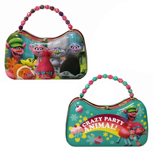 Trolls Scoop Purse Tin Tote Set