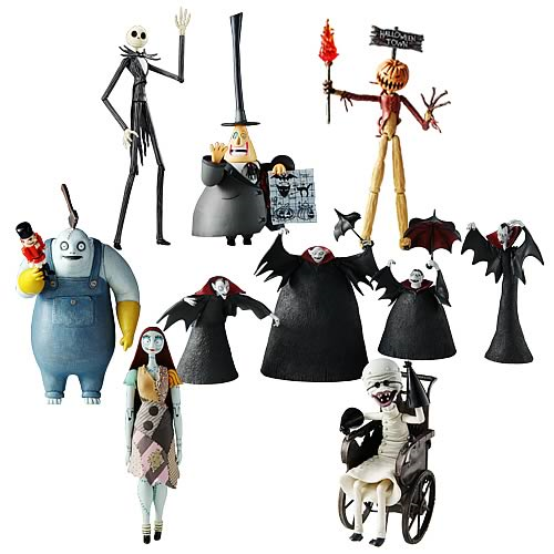 nightmare before christmas series 1 action figure case - Nightmare Before Christmas Action Figures