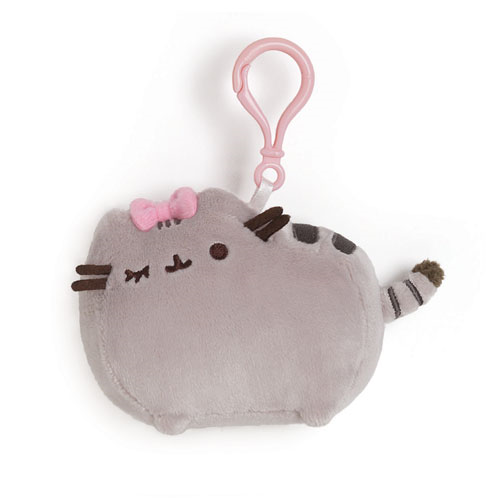 Pusheen the Cat with Bow Clip-On Backpack Plush