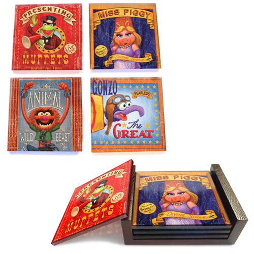Muppets StarFire Prints Glass Coaster Set
