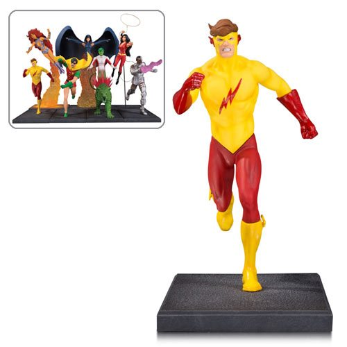 The New Teen Titans Kid Flash Multi-Part Statue