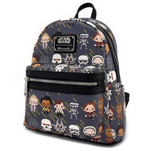Star Wars Solo Chibi Character Print PU Mini-Backpack