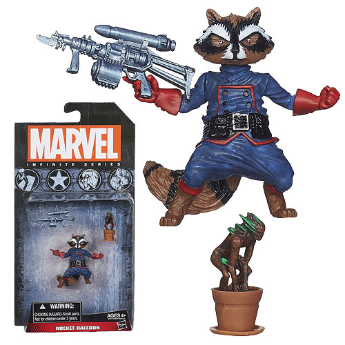 Marvel Infinite Series Rocket Raccoon 3 3/4-Inch Scale Action Figure with Baby Groot