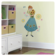 Disney Frozen Fever Anna Peel and Stick Giant Wall Decals