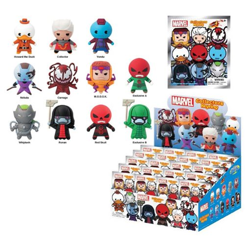Marvel 3-D Series 4 Figural Key Chain 6-Pack