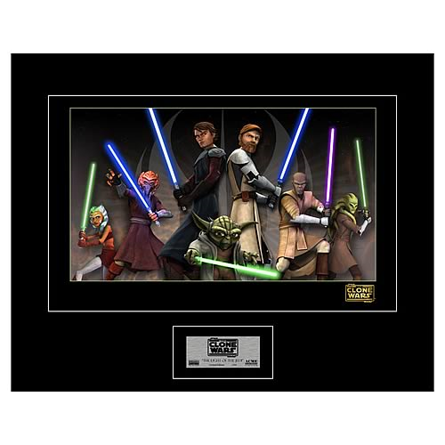 Star Wars The Clone Wars Light of the Jedi Giclee Print