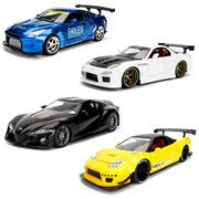 JDM Tuners 1:24 Scale Die-Cast Metal Vehicles Wave 2 Case