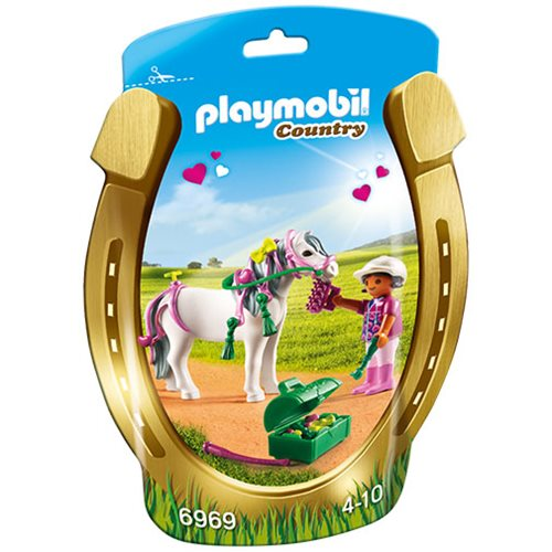 Playmobil 6969 Groomer with Heart Pony