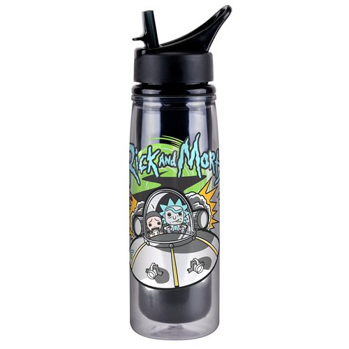 Rick and Morty Spaceship 20 Oz. Acrylic Water Bottle