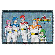 Voltron Team Woven Tapestry Throw Blanket