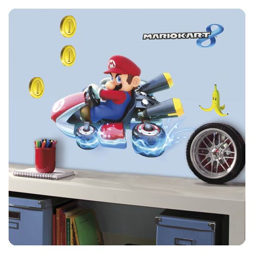 Mario Kart 8 Mario Peel and Stick Giant Wall Decal