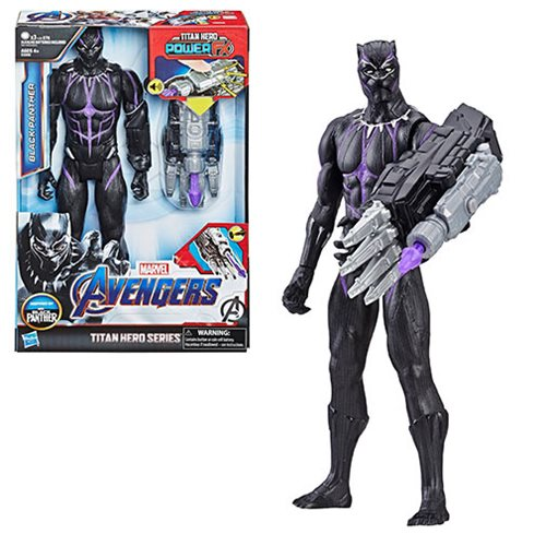 Avengers: Endgame Titan Hero Power FX Black Panther 12-Inch Action Figure