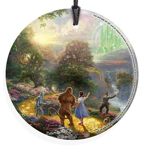 Wizard of Oz Dorothy Discovers Emerald City by Thomas Kinkade StarFire Prints Hanging Glass Print