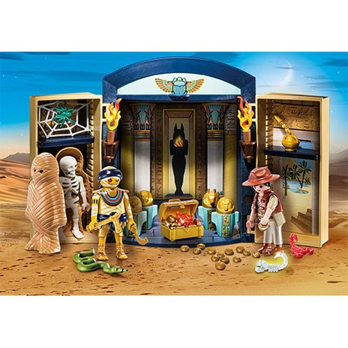 playmobil 9311 egyptian tomb play box entertainment earth