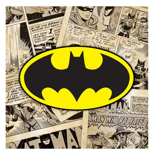 Batman Simplified Logo On Comics Canvas Print