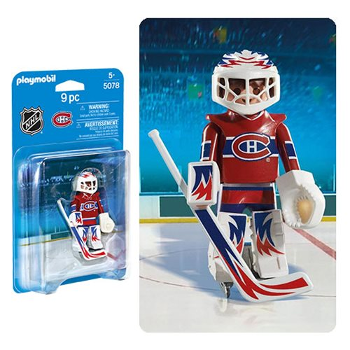 Playmobil 5078 NHL Montreal Canadiens Goalie Action Figure
