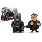 Batman v Superman: Dawn of Justice Superman and Batman with Armor 4-Inch Die-Cast Figure 2-Pack