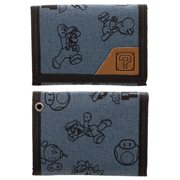 Mario Fabric Tri-fold Snap Wallet
