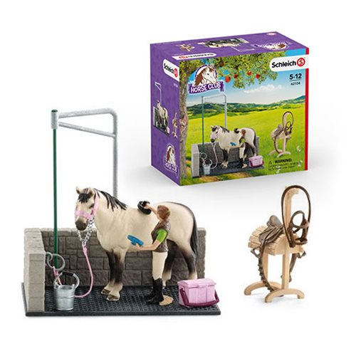 Horse Club Horse Wash Area Playset