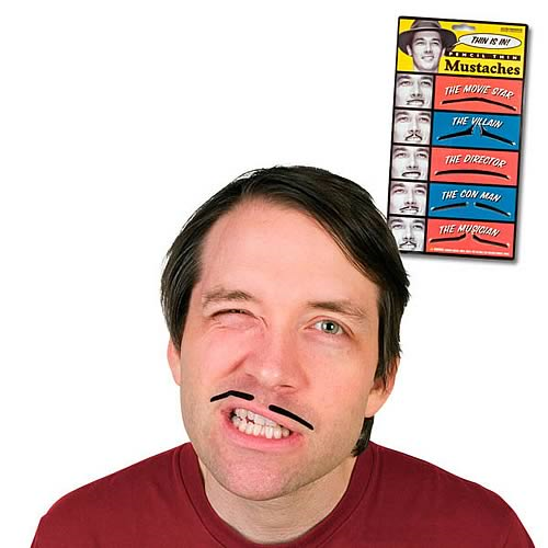 Pencil Thin Mustaches Set