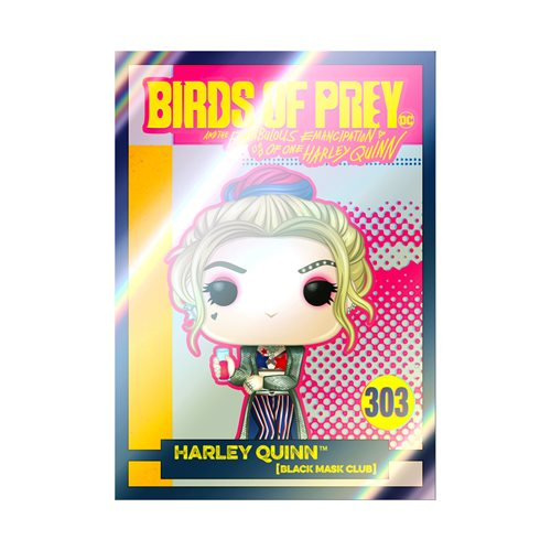 Birds of Prey Harley Quinn Black Mask Club Pop! Vinyl Figure with Collectible Card - Entertainment E