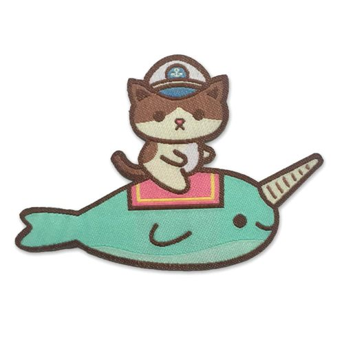 Admiral Whiskers Narwhal Ride Iron-On Patch