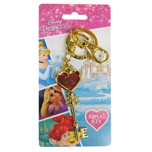 Disney Princesses Pewter Key and Key Chain