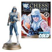 DC Superhero Captain Cold Black Pawn Chess Piece & Magazine