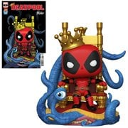 Marvel Heroes King Deadpool on Throne Deluxe Pop! Vinyl Figure and Deadpool #9 Variant Comic - Previews Exclusive