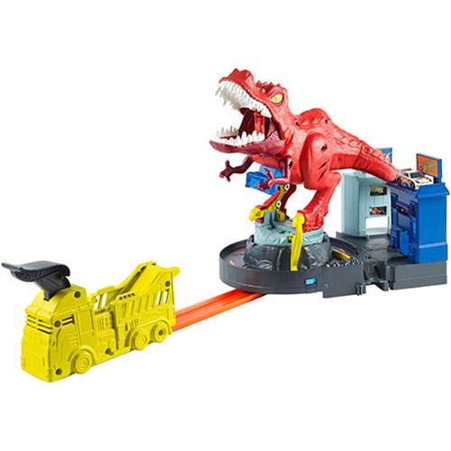Hot Wheels City T-Rex Rampage Track Set