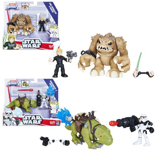 Star Wars Galactic Heroes Creature and Action Figure Wave 1 Set